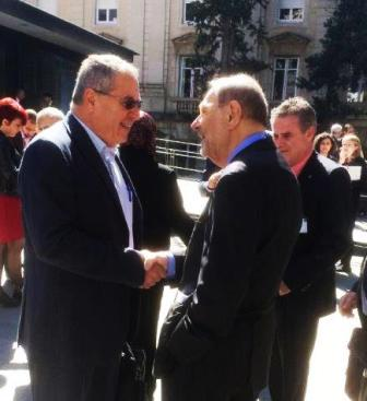 Dr. Joseph Shevel in conversation with the former Secretary of Foreign Affairs of the EU, Mr. Javier Solana