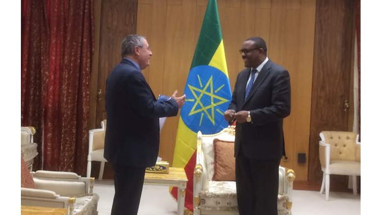 Meeting between the Prime Minster of Ethiopia and GIMI President, Dr. Joseph Shevel