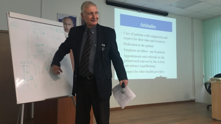 Prof. Ernesto Kahan, GIMI Academic Director, Lectured in Moscow, Russia